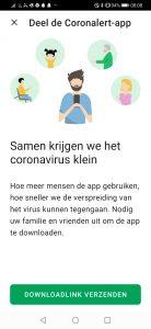 Corona app delen