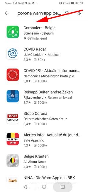 corona app belgie