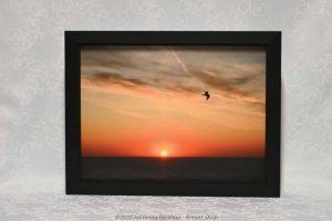 canvas sunset 40x30 zwart kader