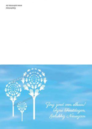Vouwkaart Nieuwjaarswensen Witte handjes
