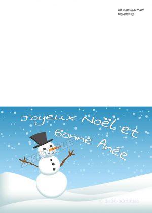 VKH003-Bonhomme de neige avecmasque